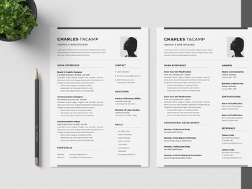 Professional CV Resume Minimalist preview picture