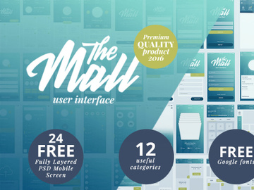 The Mall – Mobile UI Kit [Free for Personal Use] preview picture