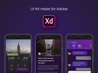 Sky UI Kit for Adobe XD by Sarah Parmenter ~ EpicPxls