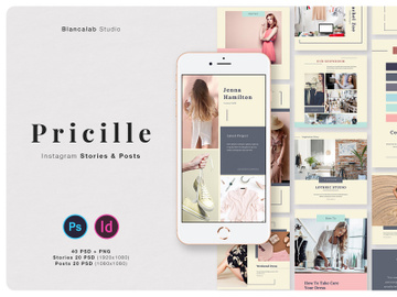PRICILLE Instagram Pack | INDD, PSD preview picture