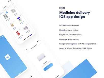 Medico medicine delivery IOS app ui kit by Shourov ~ EpicPxls