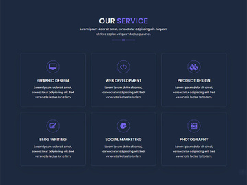 Business Website Service Page Template preview picture