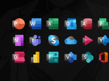 Glassy Microsoft Office Icon Set preview picture