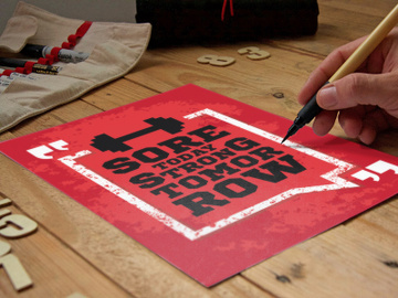 Free Handcraft Poster Mockup preview picture