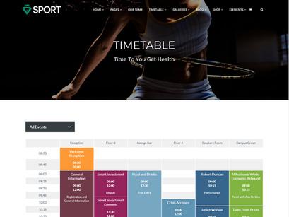 Sport Club WordPress Theme by Visualmodo WordPress Themes