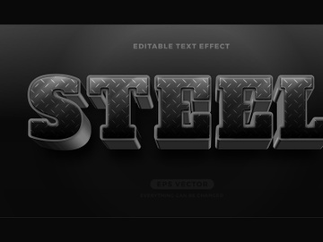 Steel editable text effect style vector preview picture