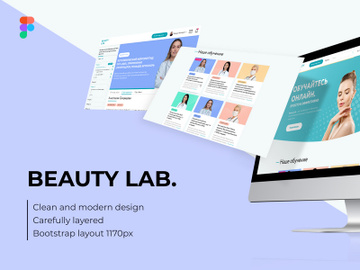 Beauty Lab. Design site and dashbord. Figma and Photoshop preview picture