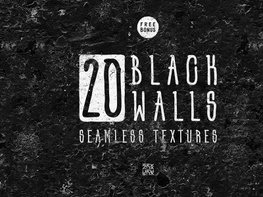 20 Black Wall Seamless Textures preview picture