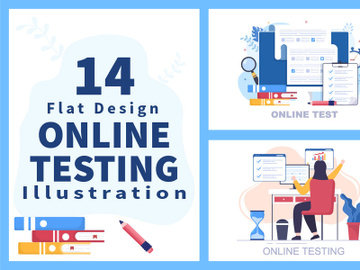 14 Online Testing For E-learning and Education Concept preview picture
