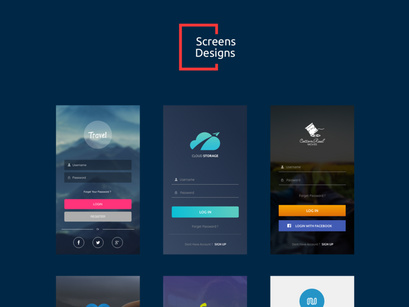 10 Login Screens Free UI Kit by Mahmoud Ash ~ EpicPxls