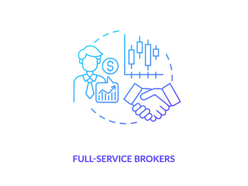 Full-service brokers concept icon preview picture