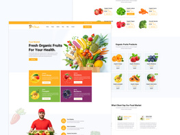 Food Market Web Template preview picture