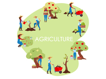 Agricultural business flat vector concept illustration preview picture