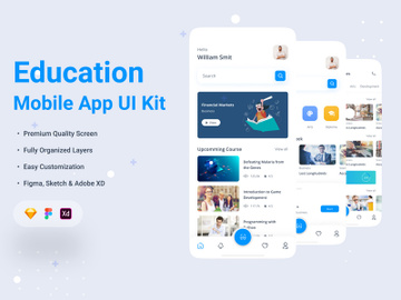 Online Education App UI Kit preview picture