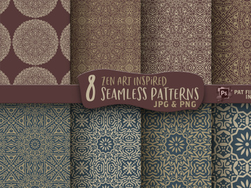 Mandala Seamless Digital Paper Patterns preview picture