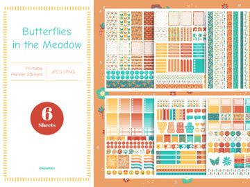 Butterflies in the Meadow Planner Stickers preview picture