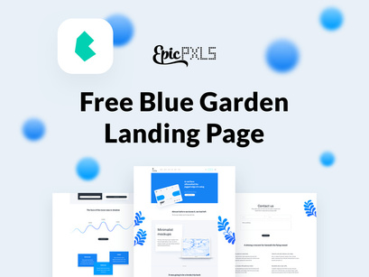 Free Landings - Blue garden