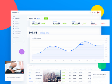 Walletquery Dashboard UI Kit preview picture