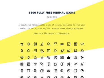 1800 Free Minimal Icons preview picture