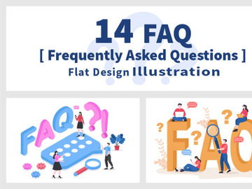 14 FAQ or Frequently Asked Questions Illustration preview picture