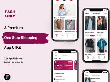 Fashion E-Commerce Mobile UI Kit preview picture