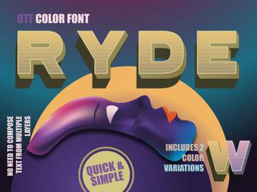 Ryde - sans serif color font preview picture