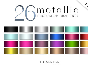 26 Metallic Photoshop Gradients preview picture