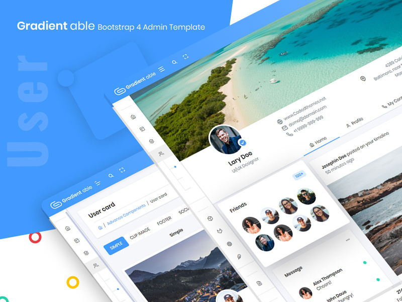 User - Gradient Able bootstrap 4 admin template preview picture