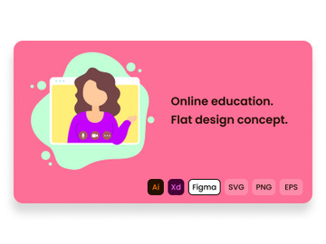 Online education. Learning online. preview picture