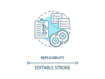 Replicability concept icon preview picture