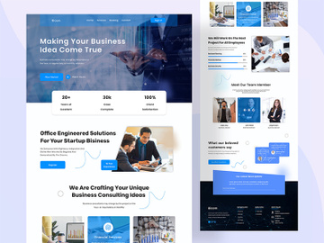Business Consultant Web Page Template preview picture