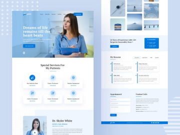 Doctor's Portfolio Landing Page preview picture