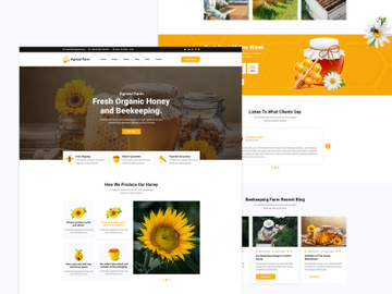 Beekeeping Farm Web Templates. preview picture