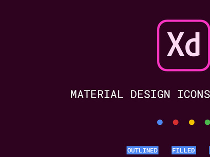 FREE | Google Material Icons for Adobe XD by David ~ EpicPxls