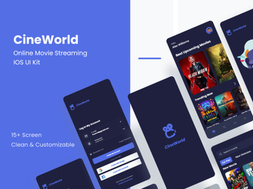 Online Movie Streaming App Concept preview picture