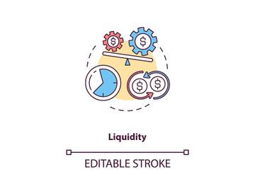 Liquidity concept icon preview picture