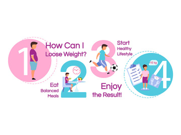 Child losing weight vector infographic template preview picture