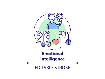 Emotional intelligence concept icon preview picture