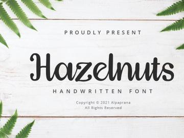 Hazelnuts - Handwritten Font preview picture