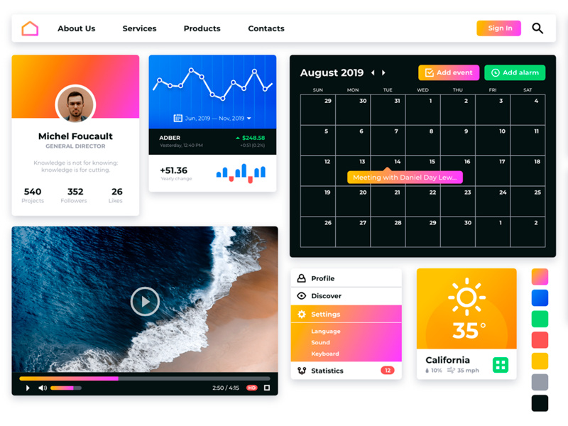 Pipl UI Kit for Adobe XD / FREE by Rasul Hasan ~ EpicPxls