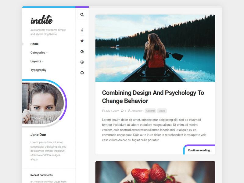 Indite Wordpress Theme preview picture