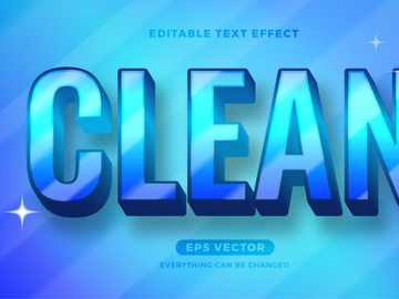 Clean editable text effect style vector preview picture
