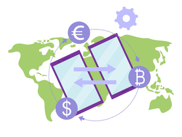 Money transfer flat illustration preview picture