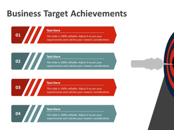 Target Achievement PowerPoint Template preview picture