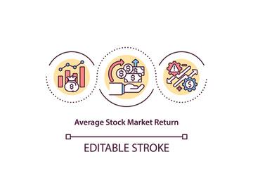 Average stock market return concept icon preview picture