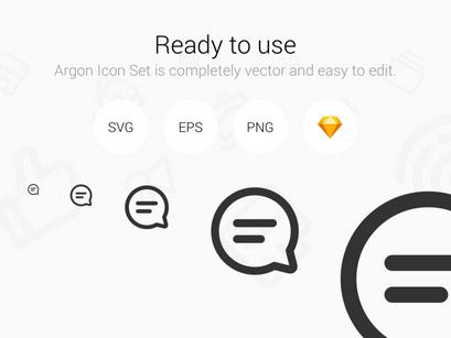 Argon Icon Set 300+ Perfect vector line icons  by Khokim