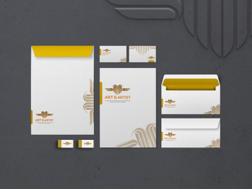 Golden-Stationery-Mockup preview picture