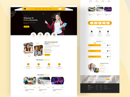 E-Learning Education Landing Page Template Design preview picture