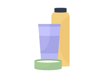 Skin care products semi flat color vector object preview picture