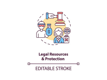 Legal resources and protection concept icon preview picture